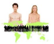 twee mensen wereld